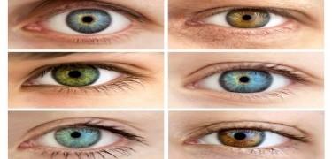 Como é definida a cor dos olhos?
